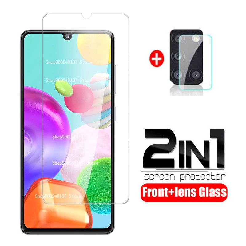 For Samsung A41 Glass 2 In 1 Camera Lens Tempered Glass for Samsung Galaxy A41 2020 A 41 A415F Scree