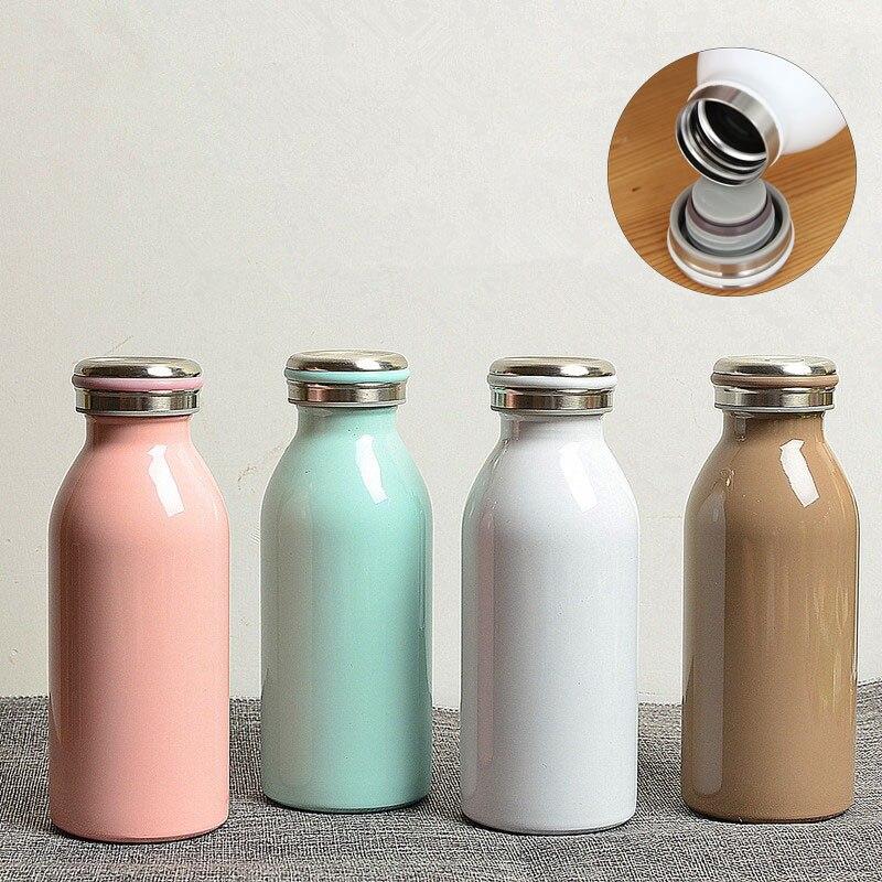 Flacons sous vide automatique café lait   Bouteille thermos en acier inoxydable, bouteille deau thermique, tasse de thé de voyage de 350ML
