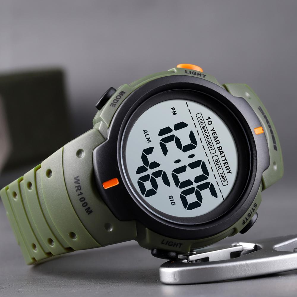 SKMEI-Reloj deportivo Digital para Hombre, cronómetro con luz Led, resistente al agua...