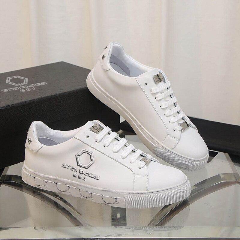 Starbags PP-حذاء رياضي إيطالي عالي الجودة للرجال ، شعار جمجمة ، جلد العجل العلوي ، برشام ماسي ، 2020