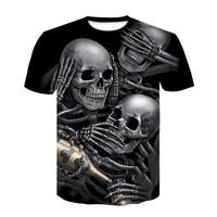 the new summer t shirt beer skull menswomens gothic shirt plus 3d printed black summer short sleeved mens jacket xxs 6xl