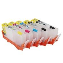 5 farbe 178 Refill Tinte patrone Für HP 178XL 178 tinte patrone refill Für HP Photosmart C6300 D5400 D5463 C5380 c6383 drucker