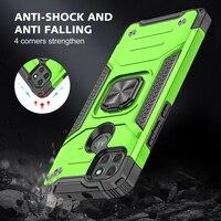 Бронированный противоударный чехол с кольцом для Motorola Moto G8 Power Lite G9 Play E7 Plus One Macro, магнитный чехол для телефона с подставкой, держатель для те...