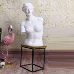 Resina imitação de gesso cor braço quebrado venus meia-comprimento retrato escultura sala de estar escritório decoração desktop x5216