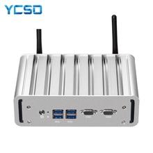 Mini Pc sans ventilateur Intel Core i7 5500U i5 i3 Windows 10 7 Linux 2 x RS232 Minipc Pfsense Micro 2 * Gigabit LAN Tv ordinateurs de bureau