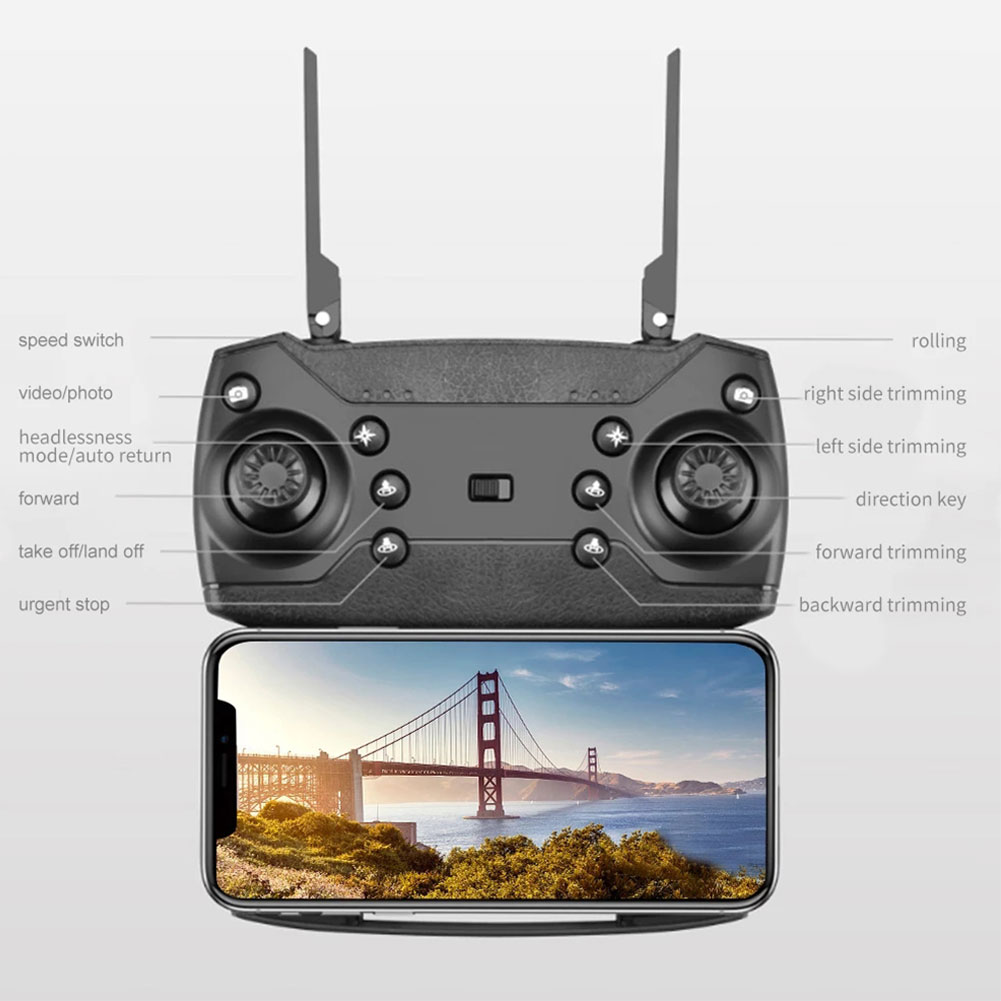 2021New E88Pro Drone 4k Profesional Gps Hd 4k Rc Airplane Dual-Camera Wide-Angle Head Remote Quadcopter Airplane Toy Helicopter 10