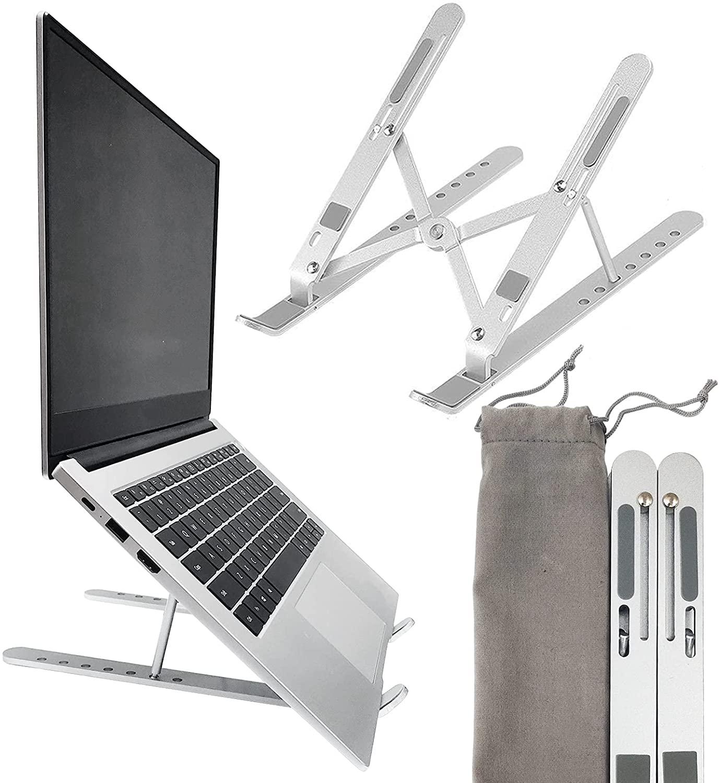 حامل كمبيوتر محمول ، حامل كمبيوتر محمول على مكتب ، قابل للتعديل مريح المحمولة الألومنيوم حامل كمبيوتر محمول ، 7-Angle قابل للتعديل عدم الانزلاق ...