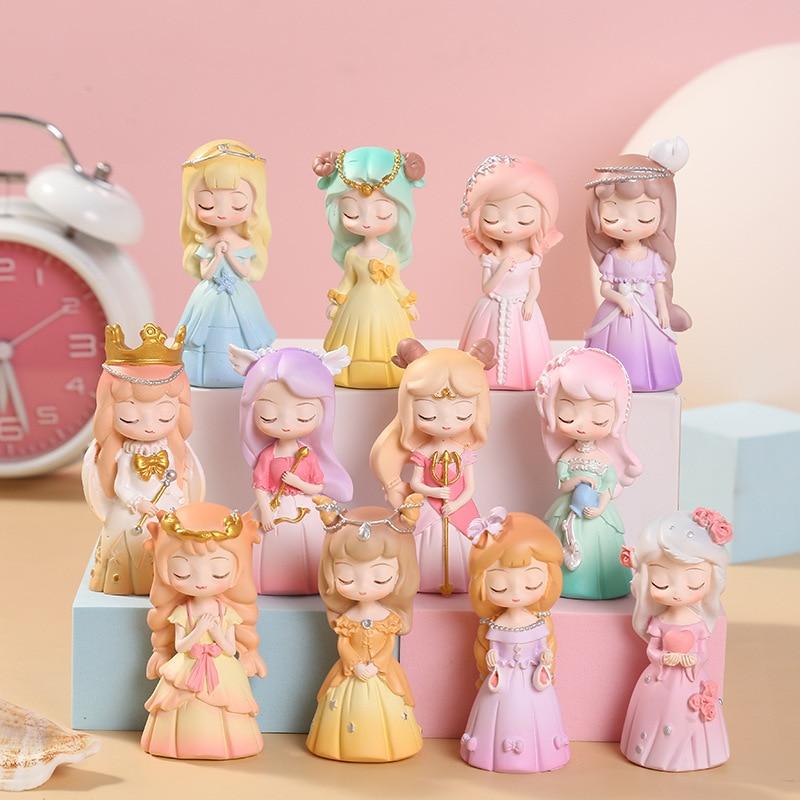 Original Girl Twelve Constellation Resin Decoration Blind Box Toys Figuines Decoration Home Bedroom Desktop Decoration for Girls