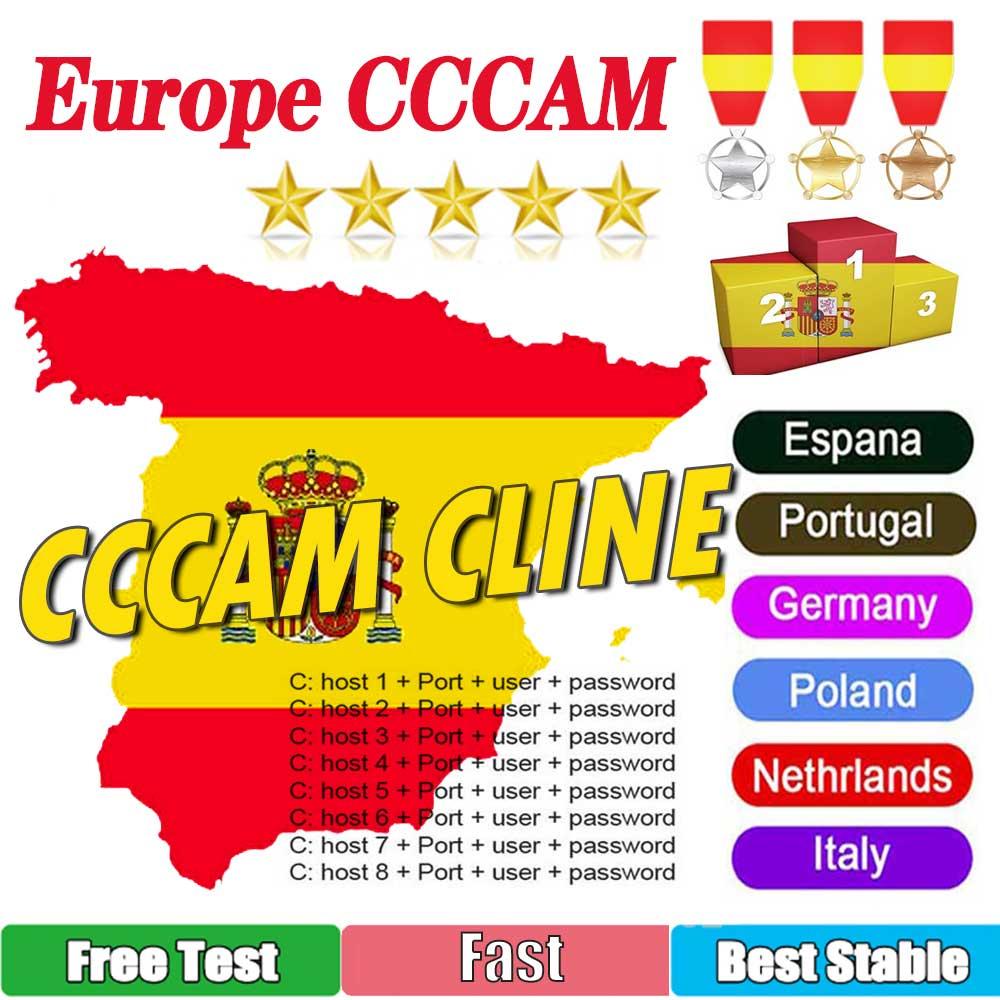 CCCAM TV Receiver AV Cable line in europe cline egygold 7 lines Freesat ccam cline for DVB-S2 Gtmedi