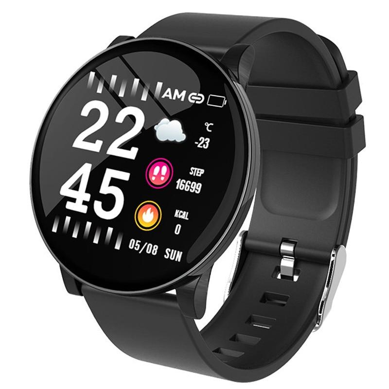 Reloj inteligente W8, Monitor de ritmo cardíaco, pronóstico del tiempo, reloj de Fitness, recordatorio de llamadas, banda inteligente Bluetooth resistente al agua para hombres