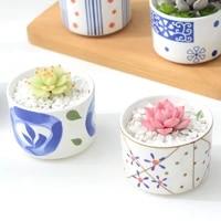 nordic style colorful ceramic flowerpot succulent planter green plants cylindrical shape creative flower pot garden balcony vase