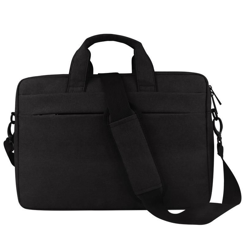 Handbag Shoulder Laptop Bag For Apple  Air Pro Laptop Anti-Scratch Cover For Mac Book(Black+15.6Inch)
