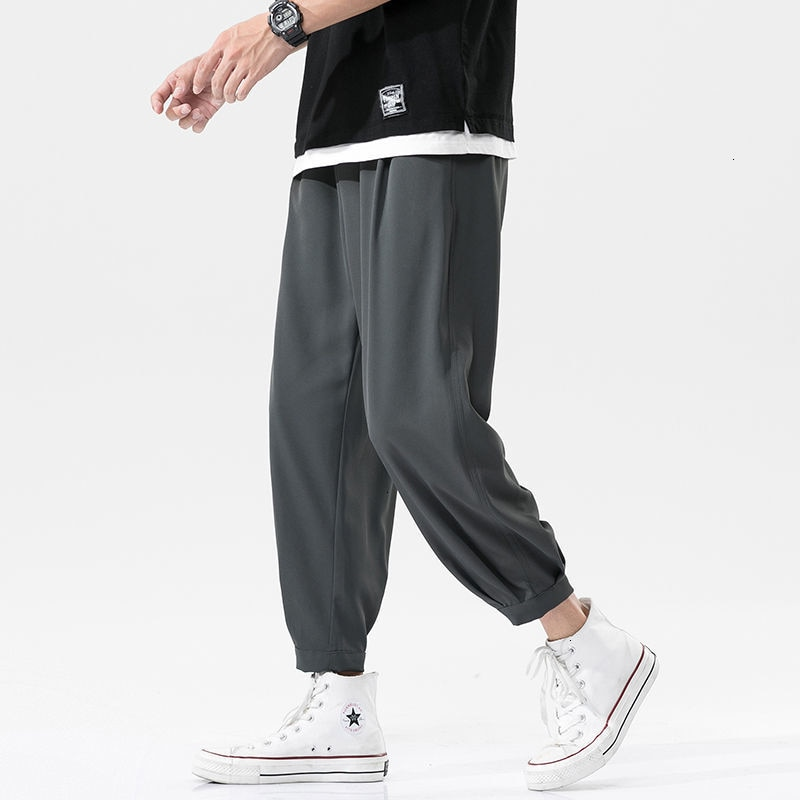 Men's Casual Oversize Pants 2021 Fashion Harajuku Streetwear Trousers Male Solid Color Classic Sweat