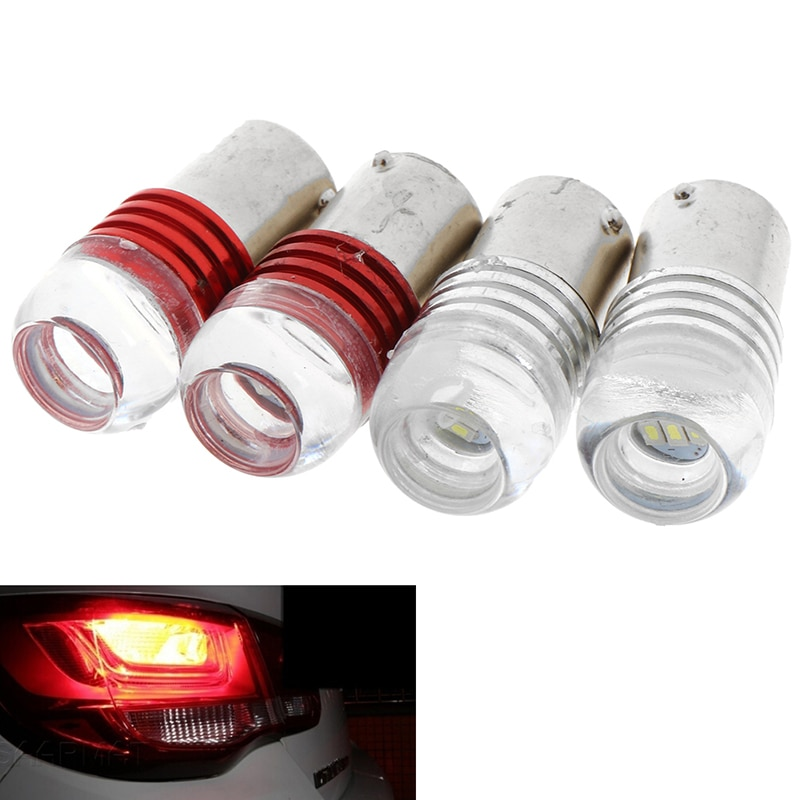 2PC High Quality Red/White Strobe Flash Light Brake Blink Led Tail Car Reverse Bulb Auto Stop Lamp