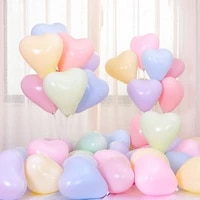 50pcs heart shaped candy pastel latex balloons wedding party decoration