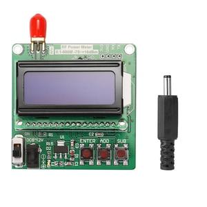 LCD Backlight Digital Display RF Power Meter Module -75~+16dBm 0.1-600MHz Radio Frequency Attenuation Value  RF Power Meter