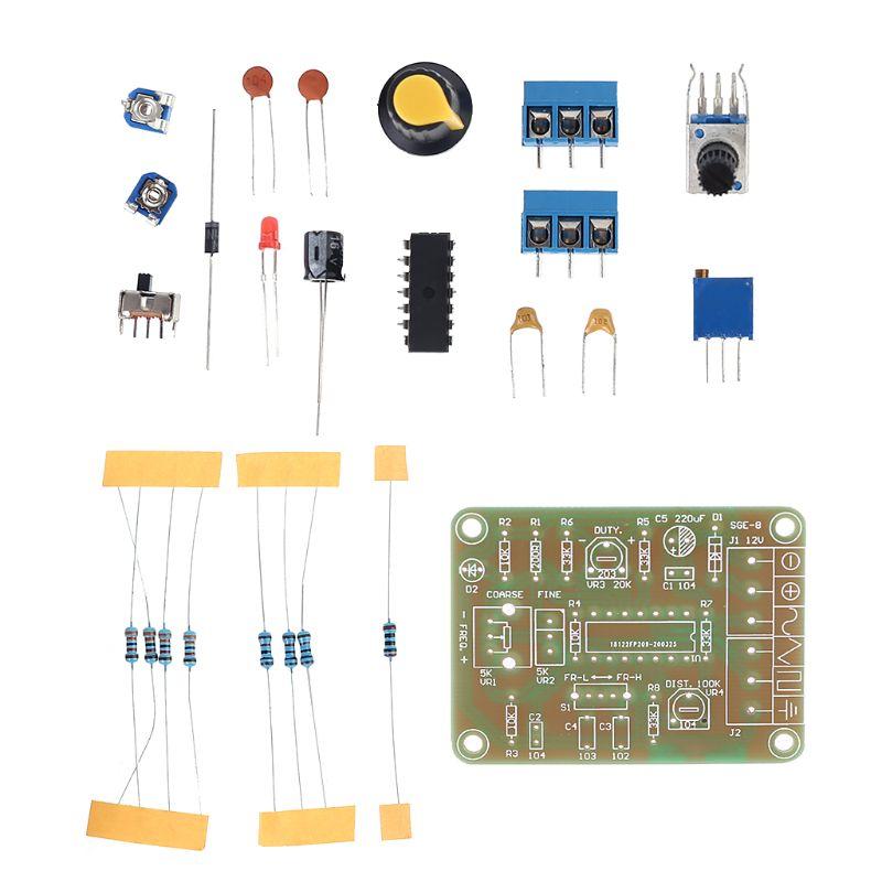 1Set Electronic DIY Making Signal generator Sine/triangle/square wave Electronic Circuit Board Tools
