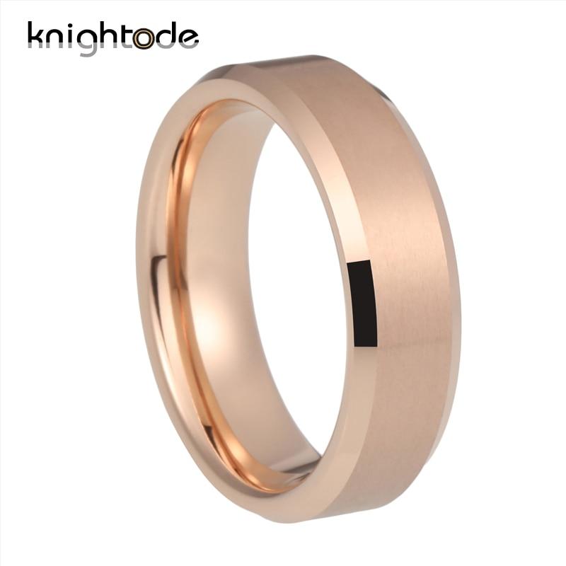 4mm 6mm 8mm Silvery/Black/Gunmetal/Gold/Rose Gold Tungsten Rings for Men Women Wedding Bands Matte Finish Beveled Edges Comfort