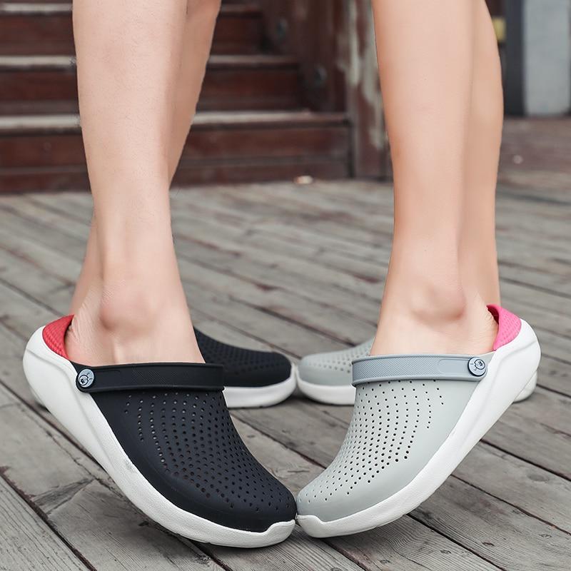 Sandales d'été pour hommes et femmes, chaussures de plage, à enfiler, sabots crocs, Mules d'eau, collection 2020