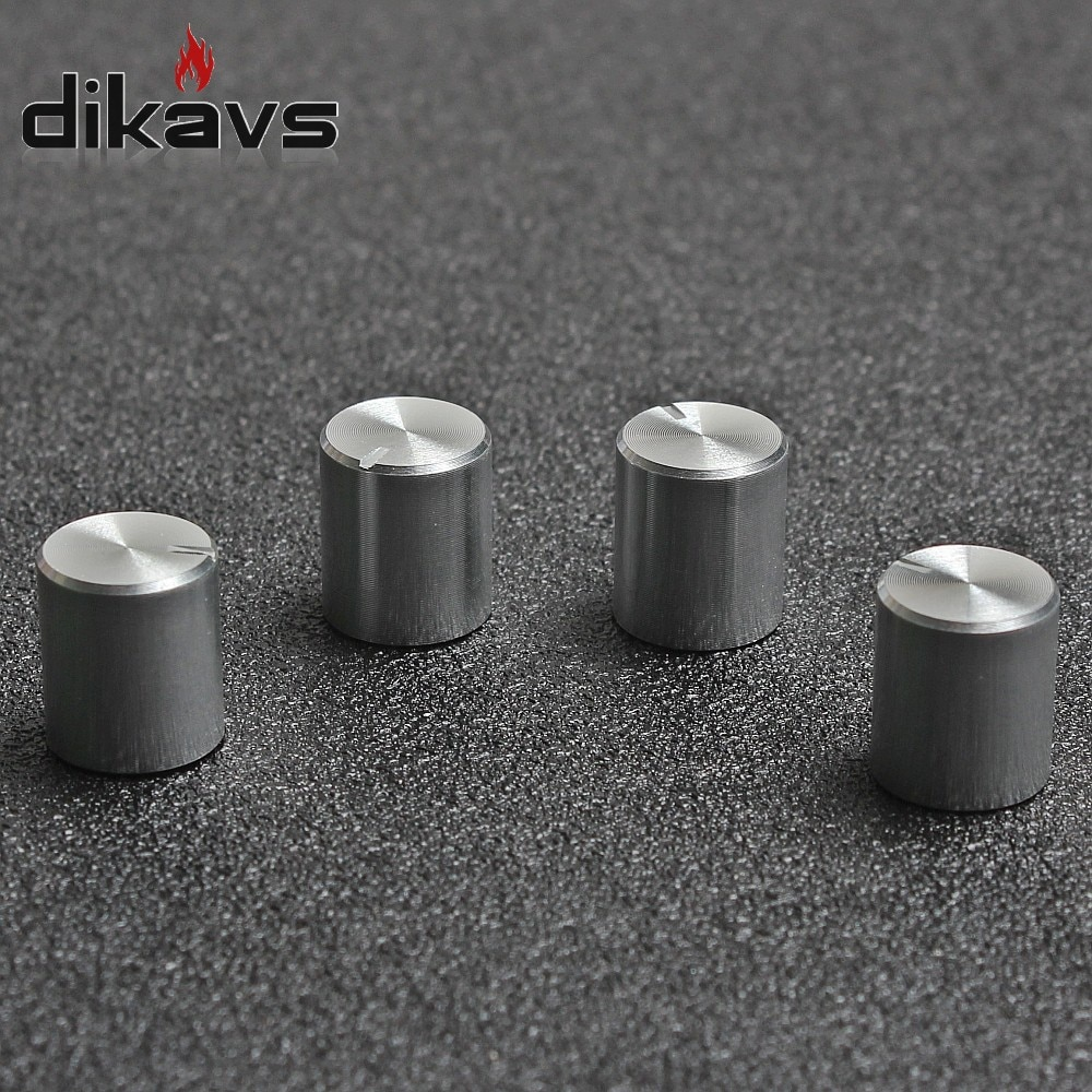 5pcs Rotary Encoder Potentiometer Knobs 6mm Shaft Volume Switch Small Knob 11 x12.5mm - Silver potentiometer encoder knob high quality aluminum alloy knobs 15x16 5mm half shaft 6mm d type switch cap for 360 degrees module