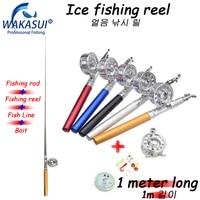 2021mini carp fishing rodfishing reellinehooksuit pole pen shape folded for outdoor river lake recreation pencil telescopic