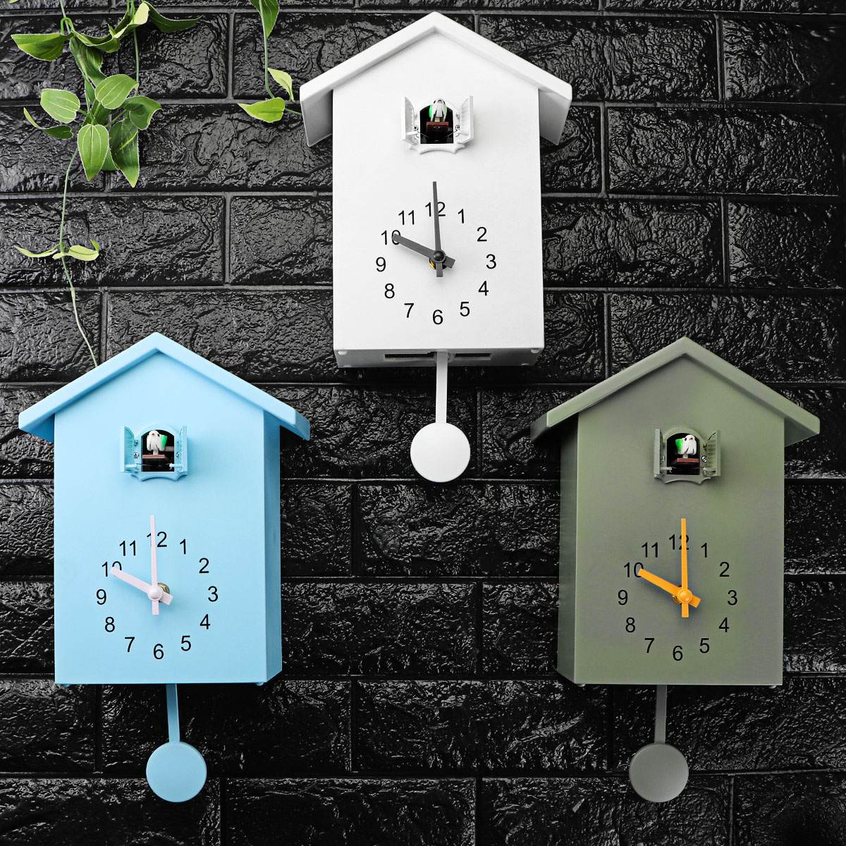 Modern Bird Cuckoo Quartz Wall Clock Home Living Room Horologe Clocks Timer Office Home Decoration Gifts Hanging Watch