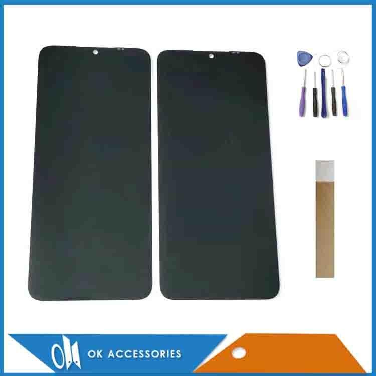 Rigial ل ZTE بليد A71 2021 LCD شاشة الكريستال السائل مع محول الأرقام بشاشة تعمل بلمس الاستشعار مع خفف زجاج عليه طبقة غشاء رقيقة والشريط