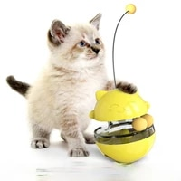 pet supplies cat turntable funny cat stick toy swing tumbler leaking ball self healing slow food device