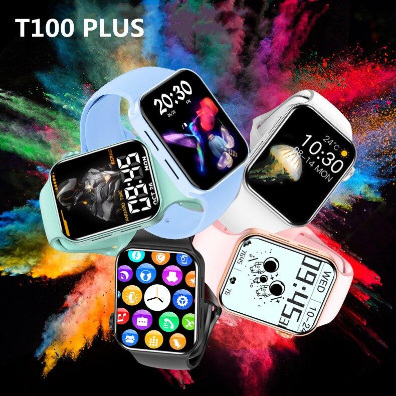 VIP بالجملة T100 زائد ساعة 7 ساعة ذكية T100plus SmartWatch بلوتوث الموسيقى عن بعد صور الاتصال رسالة تذكير الرياضة