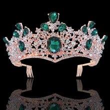 KMVEXO luxe strass mariée diadèmes couronne avec peignes Baroque plein cristal diadème pour mariée bandeaux mariage cheveux bijoux