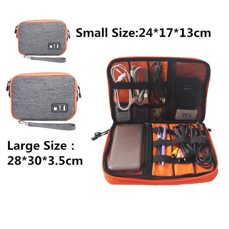 Bolsa de almacenamiento de Cable de doble capa impermeable, Organizador electrónico, bolsa...
