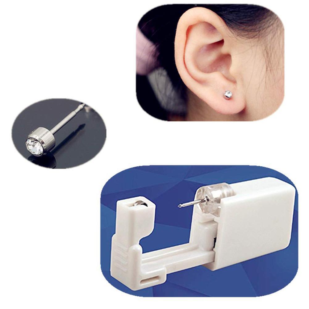 Juego de 12 unidades de gran oferta de Piercing para oreja desechable seguro y esterilizado, arete de oro para nariz, Piercing para nariz, pistola, Piercing, Kit de herramientas