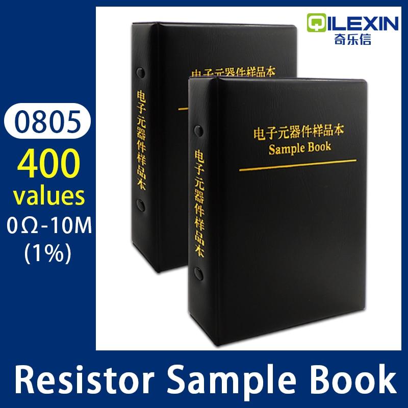 0805 резистор, 400 значений, 1% Φ SMD SMT чип, набор в ассортименте, серия E96 0R-10M, альбом образцов