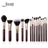 jessup makeup brushes set 15pcs professional makeup brush powder eyeshadow liner foundation blush blending zinfandelgolden
