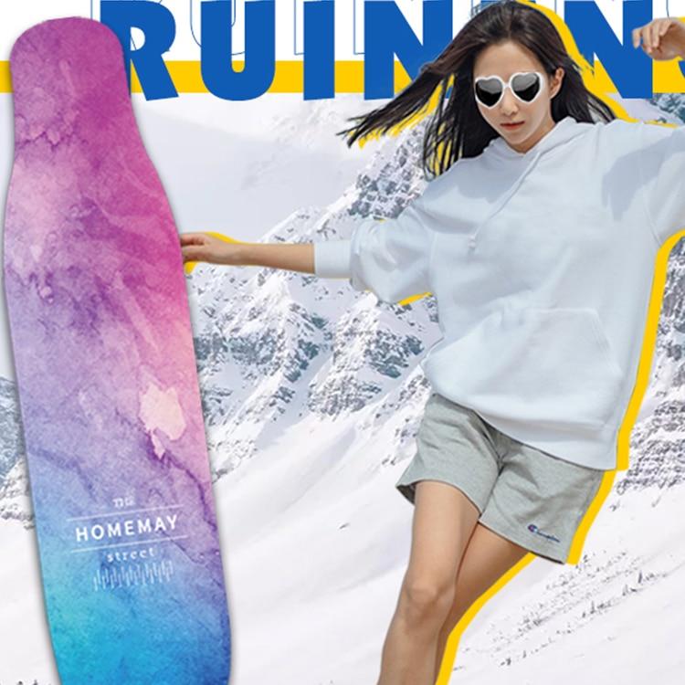 Aesthetic Luxury Skateboard Beginners Complete Double Rocker Skateboard Deck 4 Wheel Planche De Skate Sports Accessories DK50SB