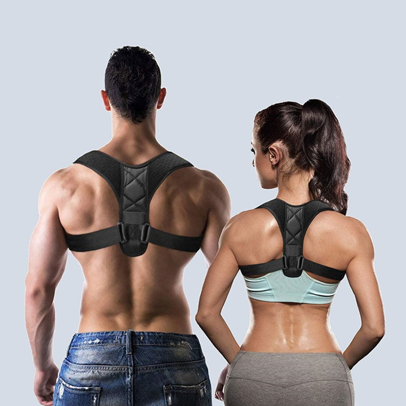 Medical Adjustable Clavicle Posture Corrector Men Woemen Upper Back Brace Shoulder Lumbar Support Be