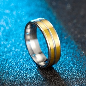 Bu-53 European and American new style stainless steel frosted ring female titanium steel diamond couple ring jewelry wholesale