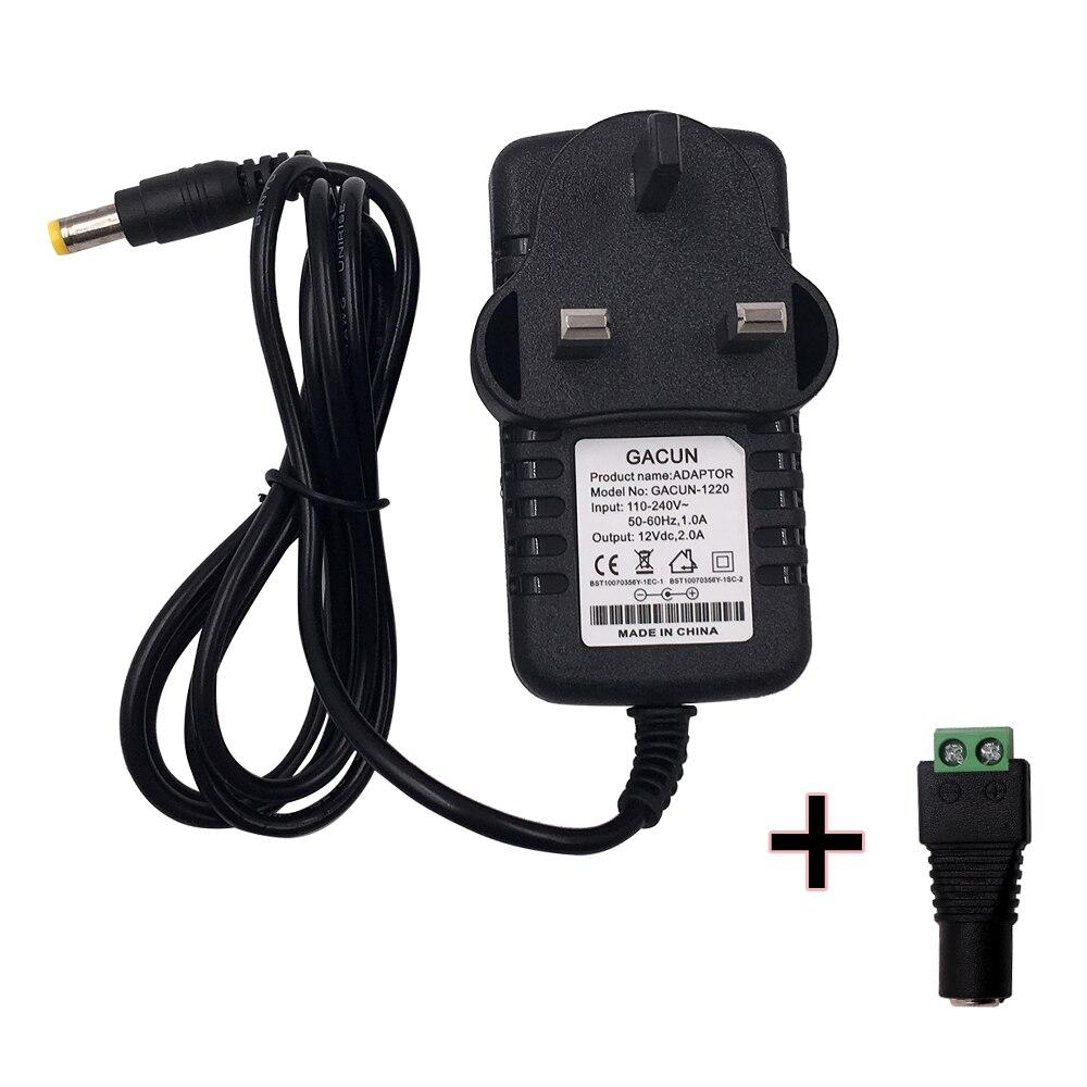Adaptador convertidor de potencia, enchufe EU US AC 100-240V a DC 12V 2A 3A 5A, cargador de Transformador de conmutación para tira de luces LED CCTV