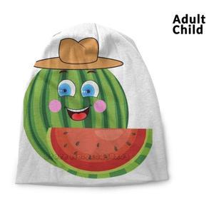 Mr Watermelon ( Gentlemen Pastèqua ) Personality Hip Hop Head Caps Beanie Hats Bonnet Watermelons Watermelon Watermelon