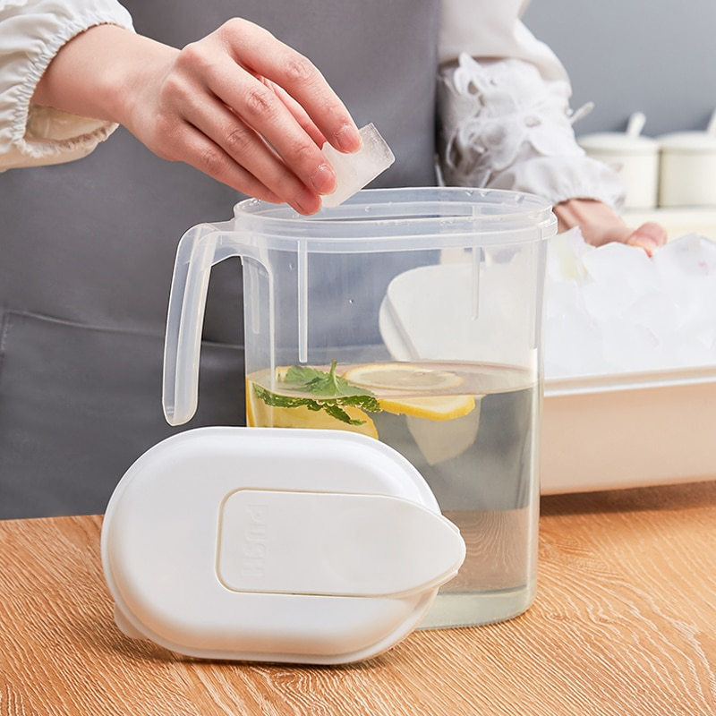 Newest Kitchen Transparent Water Bottles Drinkware Large Capacity Clear Water Mug Teapot Cooler for