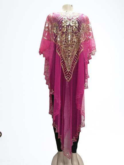 فستان افريقي نسائي لون سادة مقاس كبير ملابس افريقية ماكسي صيف 2020