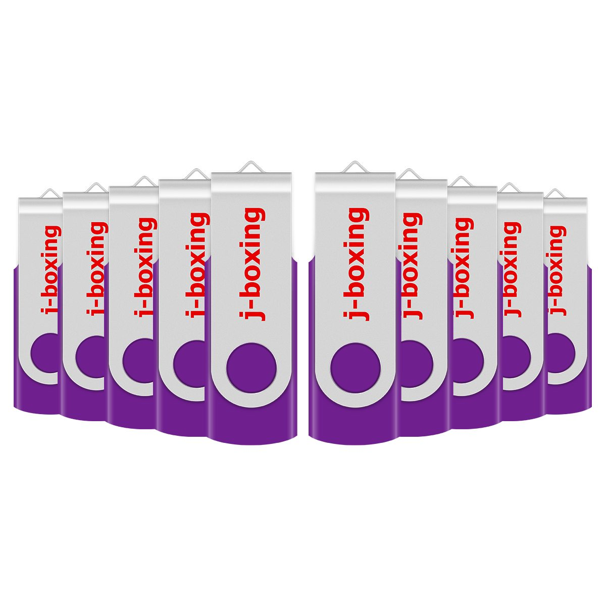 J-boxing Purple 32GB USB Flash Drive Metal Swivel Memory Stick Rotating Pen Drive Thumb Storage 1GB 2GB 4GB 8GB 16GB 10PCS/Pack
