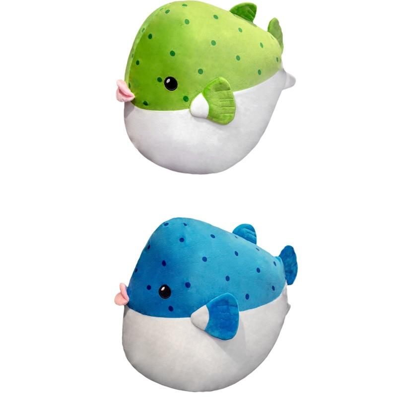 1 Uds ins Extra Soft Puffer Peluche de pez realista Vida Marina Blowfish peluches simulación Boxfish peluches muñecas