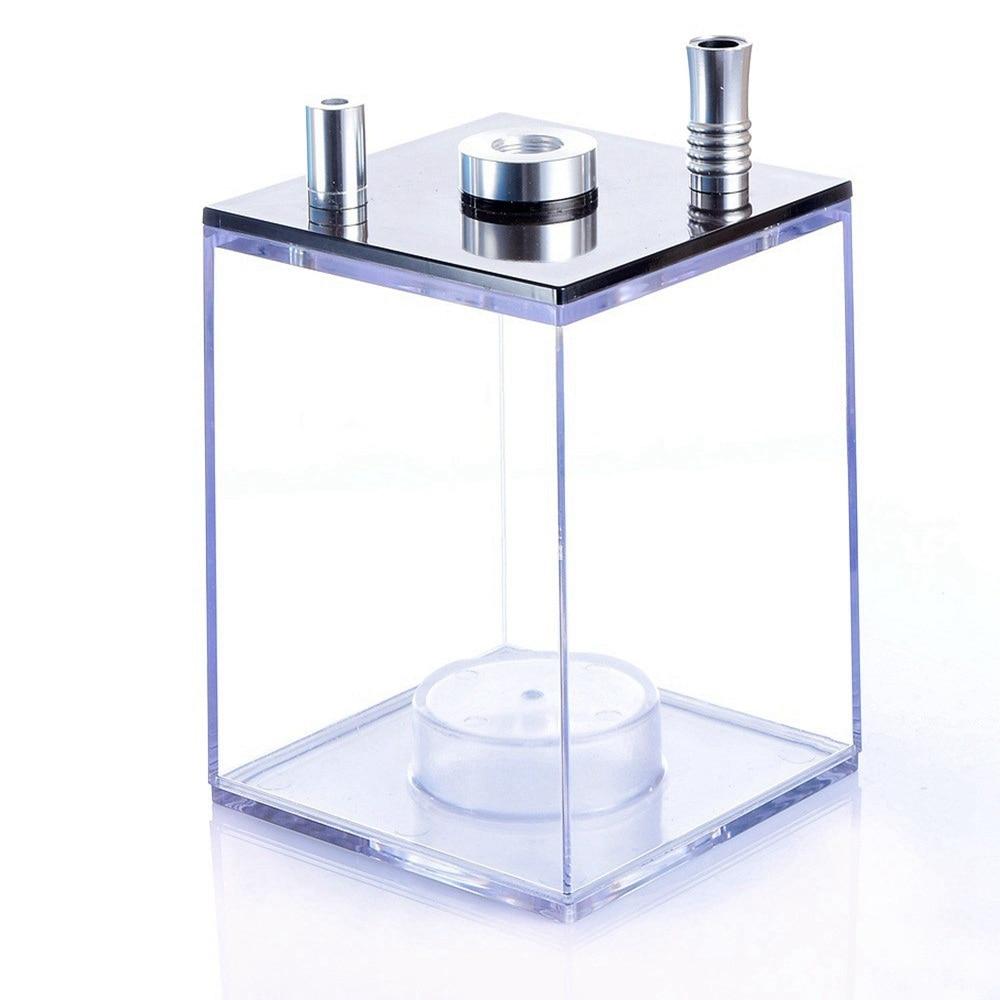 Transparent Acrylic Shisha set with LED Light Sheesha Narguile Chicha Hookah Box include Silicon Bowl&Clip&Pipe Hose enlarge