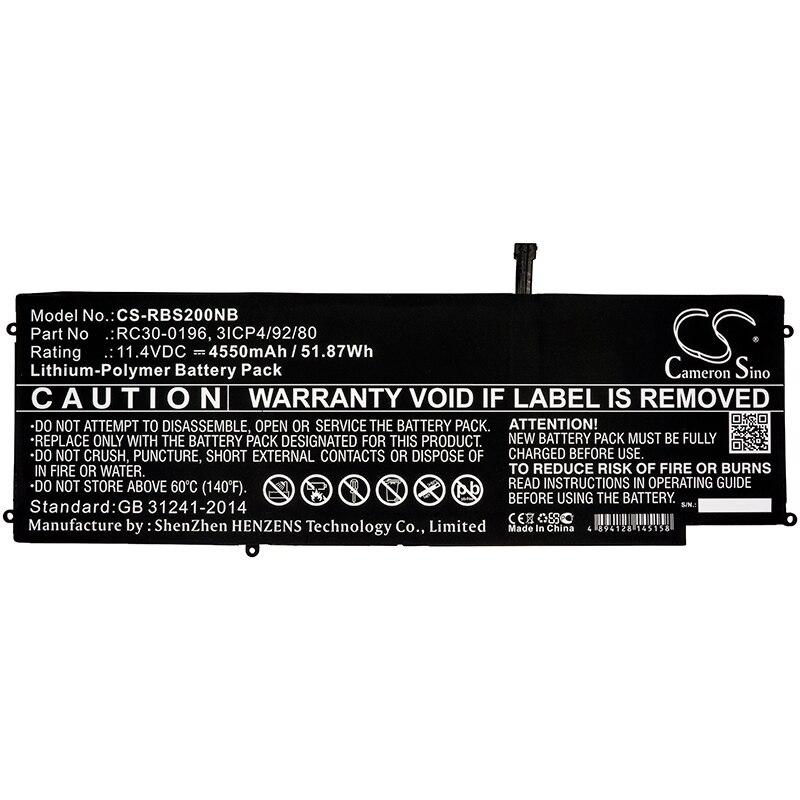 Cameron sino bateria para razer lâmina stealth 2016 v2 lâmina i7-7500U RZ09-01964E31 substituição 3icp4/92/80 4550mah