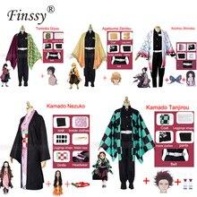 Anime Mostra Personaggio Dei Cartoni Animati del Costume Cosplay Demone Slayer Kimetsu no Yaiba Tanjirou Nezuko Kimono di Cosplay Parrucca