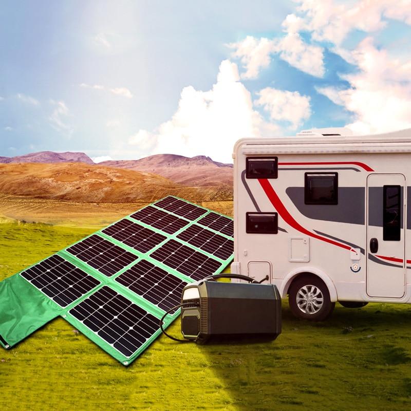 Panel solar plegable, cargador de batería de 300w para caravana, barco, coche, bicicletas eléctricas para tienda de campaña