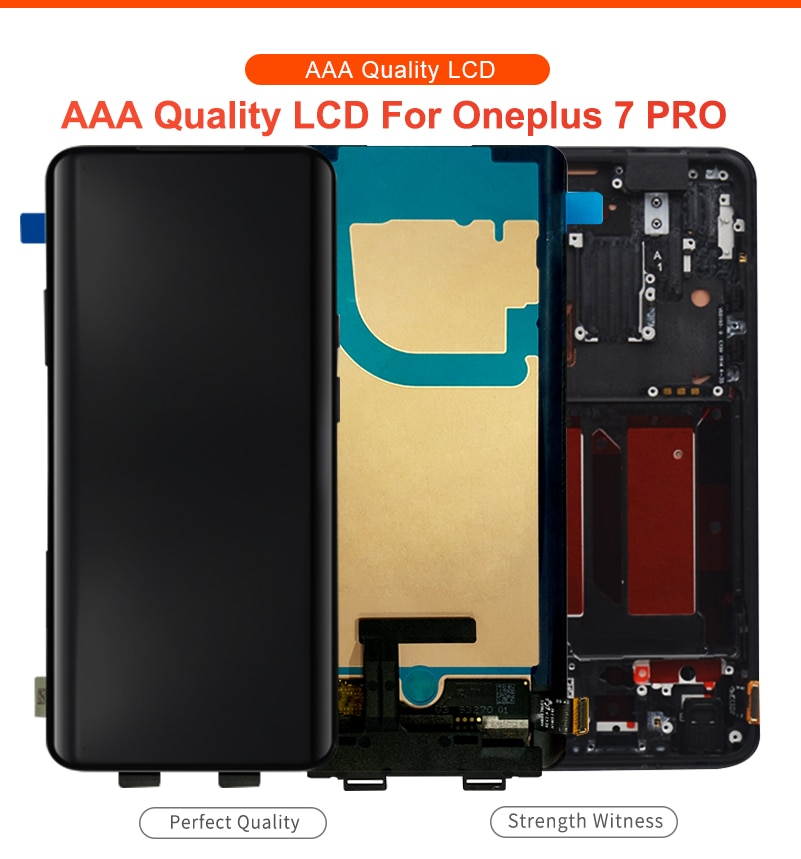 oneplus 7 pro amoled com tela de quadro 10-touch