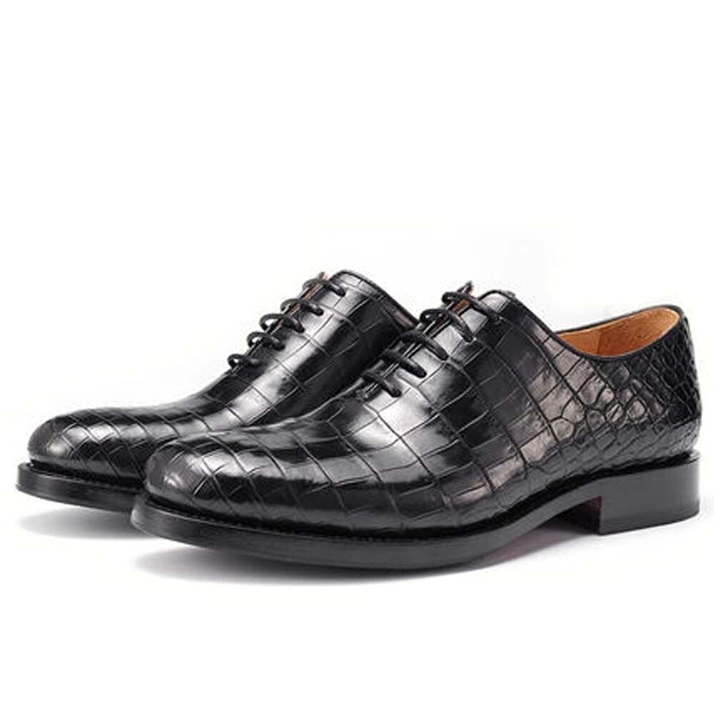 Piliyuan-حذاء جلد التمساح البريطاني للرجال ، أحذية رسمية ، أحذية ترفيهية ، برباط ، أعمال