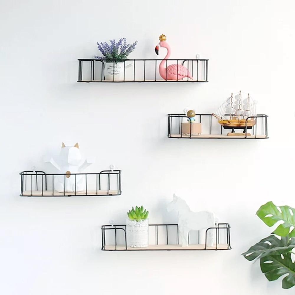 Estante de pared decorativo de colección de Metal, estante de exhibición de nubes, estante flotante de almacenamiento para cocina, soporte de almacenamiento para Baño